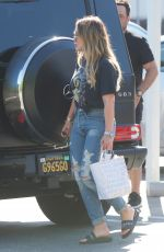 HILARY DUFF Out for Lunch in Brentwood 09/24/2017