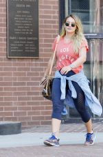 HILARY DUFF Out in Beverly Hills 09/05/2017