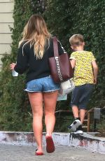 HILARY DUFF Out in Studio City 09/16/2017