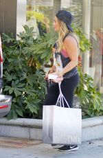 HILARY DUFF Out Shopping in Los Angeles 09/29/2017