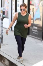 HILARY DUFF Picking up Laundry in West Hollywood 09/01/2017