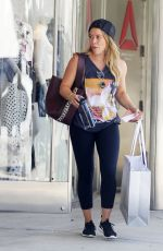 HILARY DUFF Shopping at Intermix in West Hollywood 09/29/2017