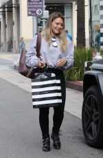 HILARY DUFF Shopping at Sephora in Beverly Hills 09/21/2017
