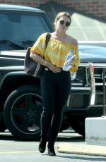 HILARY DUFF Visits a Dermatologist in Beverly Hills 09/12/2017