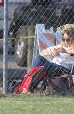 HILARY DUFF Watching her Son Play Baseball in Los Angeles 09/30/2017