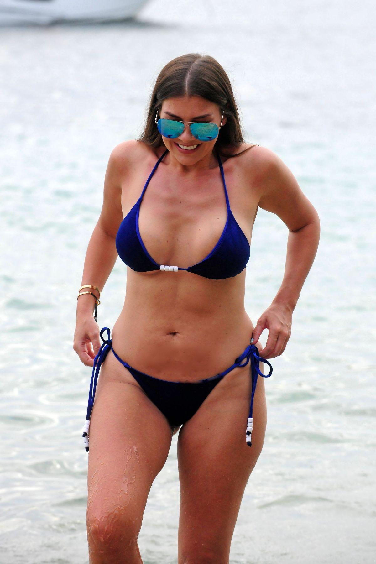 IMOGEN THOMAS in Bikini at a Beach in Mallorca 09/02/2017