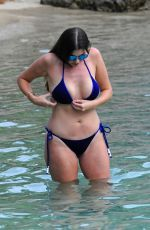IMOGEN THOMAS in Bikini at a Beach in Mallorca 09/02/2017