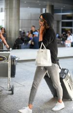 IRINA SHAYK at Los Angeles International Airport 08/31/2017