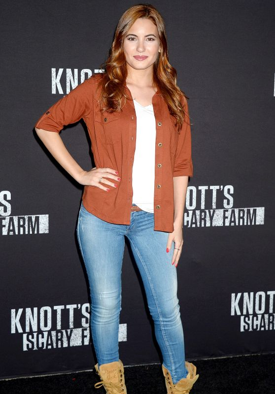 IVANA BAQUERO at Knott's Scary Farm Celebrity Night in Buena Park 09/29/2017