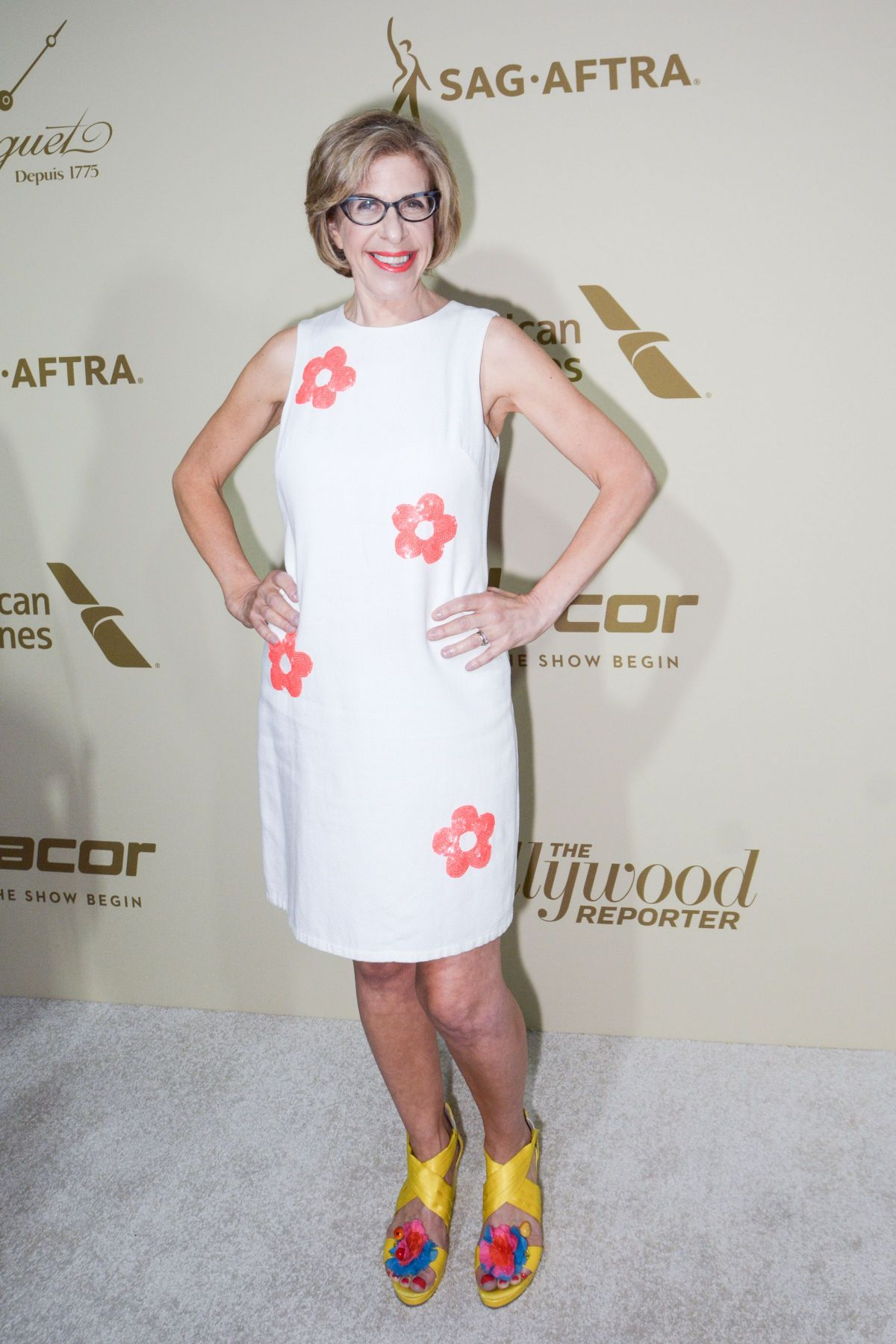 JACKIE HOFFMAN at Hollywood Reporter and Sag-aftra Nominees Night in Beverly Hills 09/14/2017