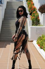 JEMMA LUCY in Swimsuit on Vacation in Spain 09/02/2017