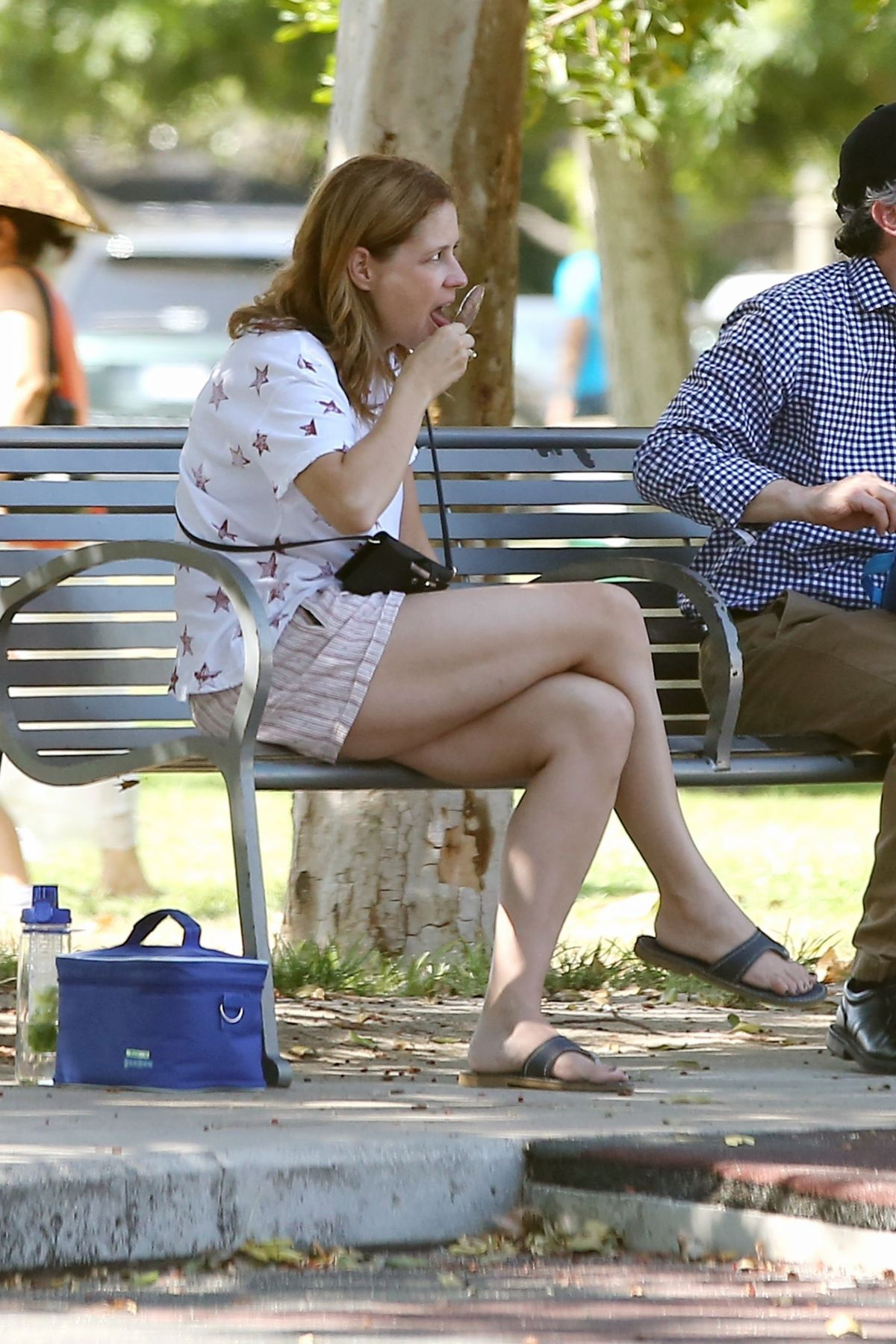 JENNA FISCHER at a Local Park in Los Angeles 09/06/2017