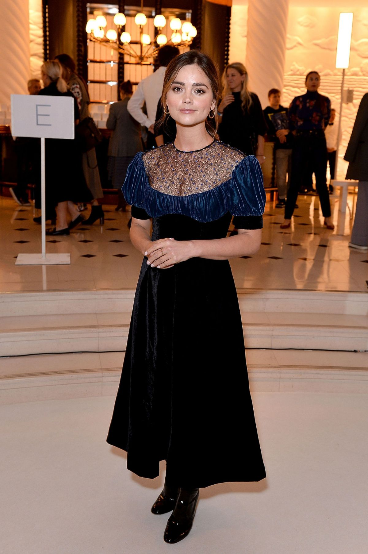 JENNA LOUISE COLEMAN at Emilia Wickstead Fashion Show in London 09/18/2017