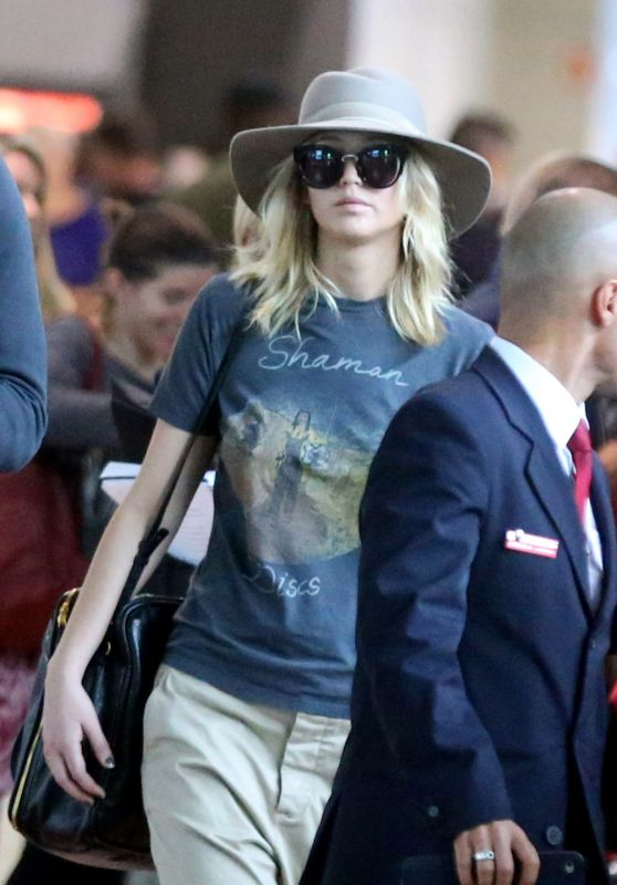 JENNIFER LAWRENCE at Charles De Gaulle airport in paris 9/27/17