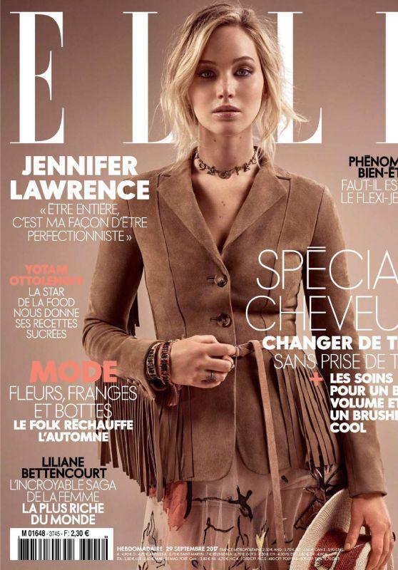 JENNIFER LAWRENCE in Elle Magazine, France Semtpmer 2017 Issue