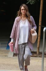 JESSICA ALBA Arrives at Honest Company in Playa Del Vista 09/20/2017