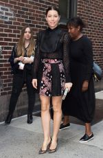 JESSICA BIEL Arrives at Late Show with Stephen Colbert in New York 09/05/2017