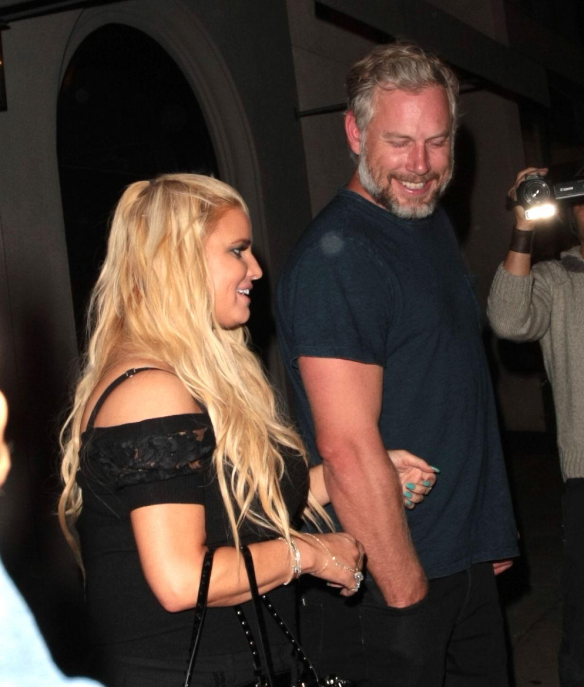 JESSICA SIMPSON and Her Husband Eric Johnson at Craig