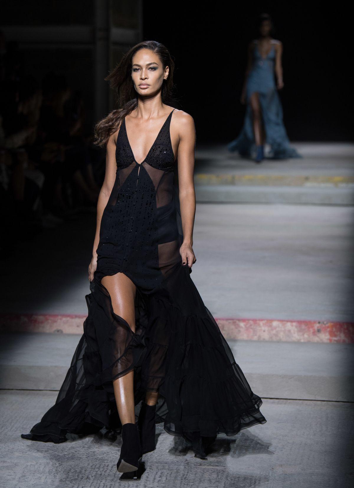 Models at london fashion week 97