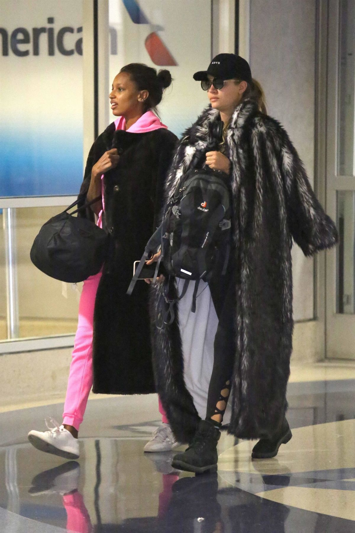 JOSEPHINE SKRIVER and JASMINE TOOKES at LAX Airport in Los Angeles 08/31/2017