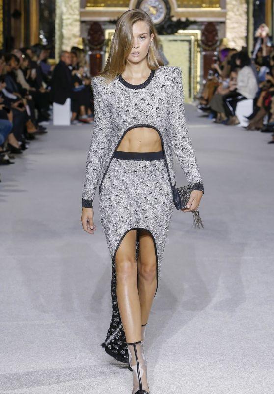 JOSEPHINE SKRIVER at Balmain Fashion Show in Paris 09/28/2017