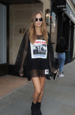 JOSEPHINE SKRIVER Out and About in London 09/18/2017