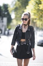 JOSEPHINE SKRIVER Out and About in Paris 09/29/2017