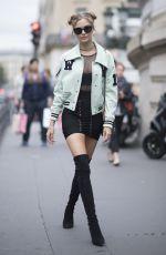 JOSEPHINE SKRIVER Out at Paris Fashion Week 09/28/2017