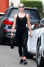 JULIANNE HOUGH at a Gym in Studio City 09/15/2017