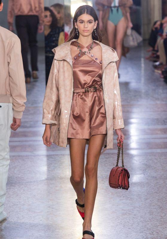 KAIA GERBER at Bottega Veneta Fashion Show at Milan Fashion Week