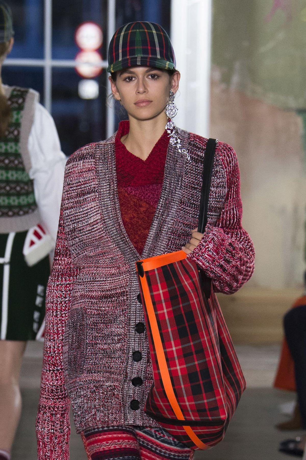 KAIA GERBER at Burberry Fashion Show at London Fashion Week 09/17/2017