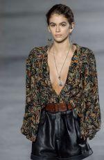 KAIA GERBER at Saint Laurent Fashion Show at Paris Fashion Week 09/26/2017