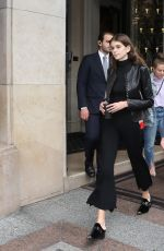 KAIA GERBER Leaves Four Seasons Hotel in Paris 09/28/2017