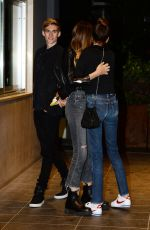 KAIA GERBER Out for Dinner in Milan 09/23/2017