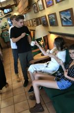KAIA GERBER Out for Ice Cream with Friends in Malibu 09/03/2017