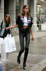 KAIA GERBER Out Shopping in New Yrok 09/06/2017