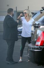 KALEY CUOCO Leaves Jimmy Kimmel Live in Los Angeles 09/28/2017