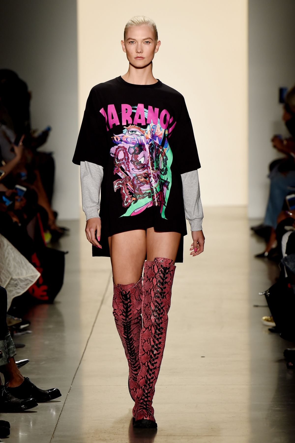 KARLIE KLOSS at Jeremy Scott Fashion Show in New York 09/08/2017