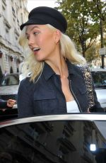 KARLIE KLOSS Leaves Her Hotel in Paris 09/26/2017