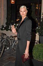 KARLIE KLOSS Leaves Royal Monceau Hotel in Paris 09/27/2017