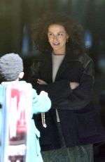 KATE BECKINSALE on the Set of Farming in London 09/22/2017