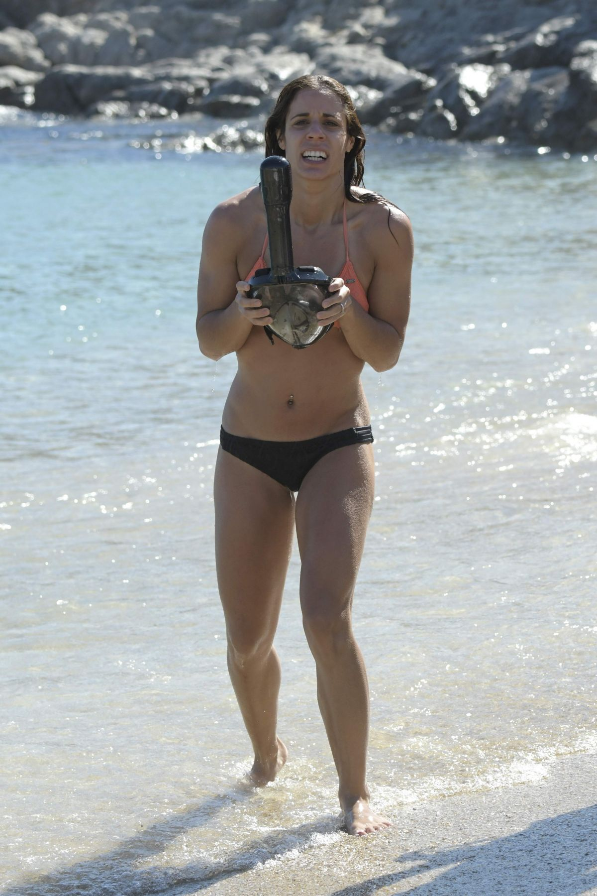 KATERINA STEFANIDI in Bikini at a Beach in Mykonos 09/06/2017