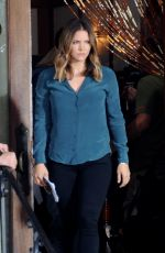 KATHARINE MCPHEE on the Set of Scorpion in Los Angeles 09/13/2017
