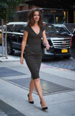 KATIE HOLMES Arrives at Her Hotel in New York 09/07/2017