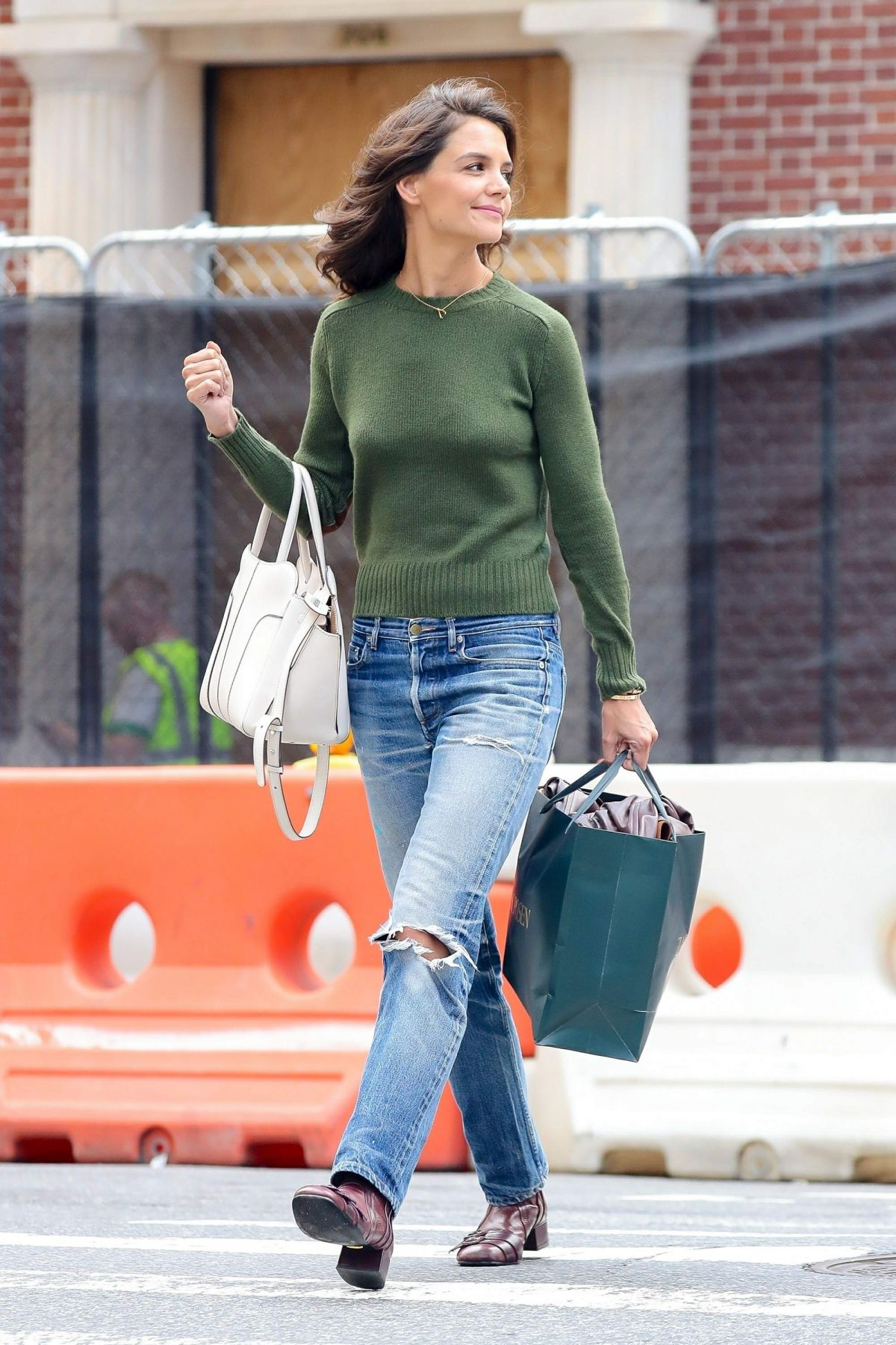 KATIE HOLMES Out Shopping in New York 09/09/2017