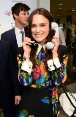 KEIRA KNIGHTLEY at BGC Charity Day in London 09/11/2017