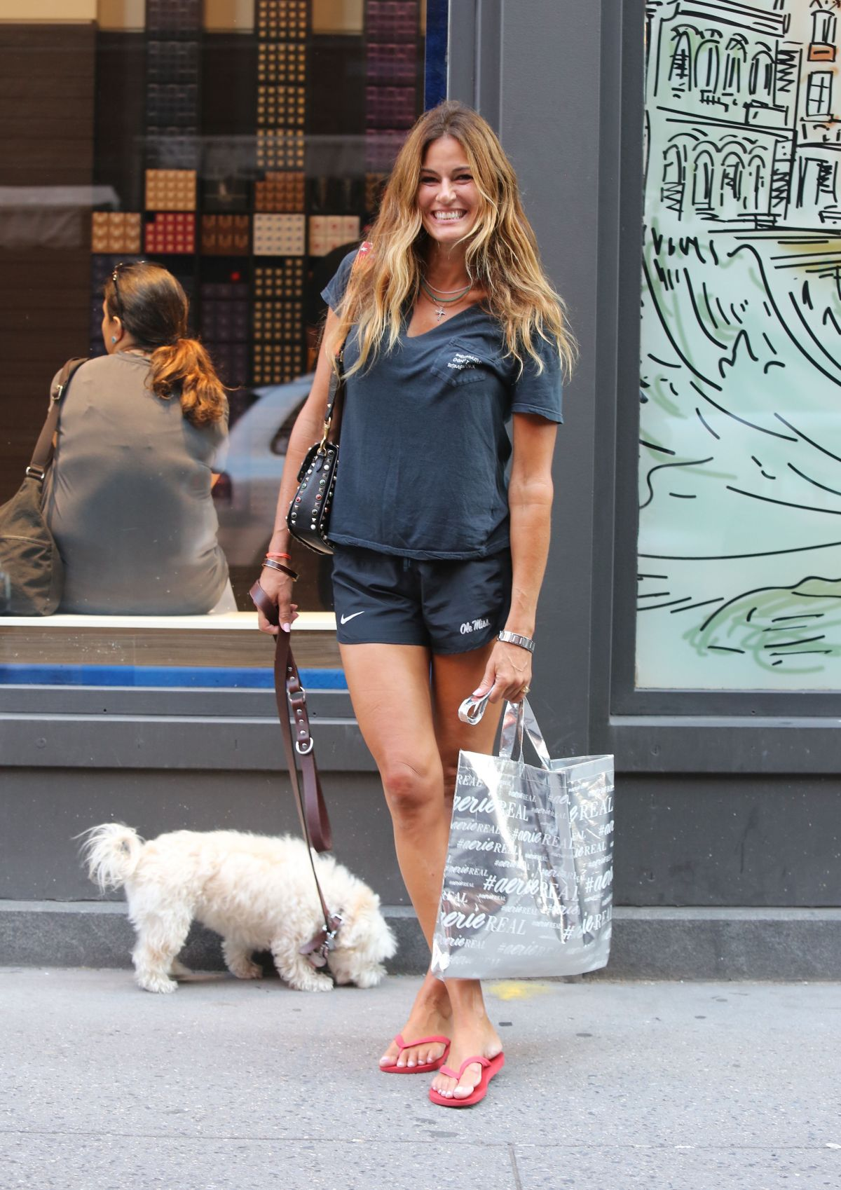 KELLY BENSIMON Out with Her Dog in New York 09/04/2017