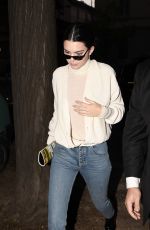 KENDALL JENNER Night Out in Milan 09/20/2017