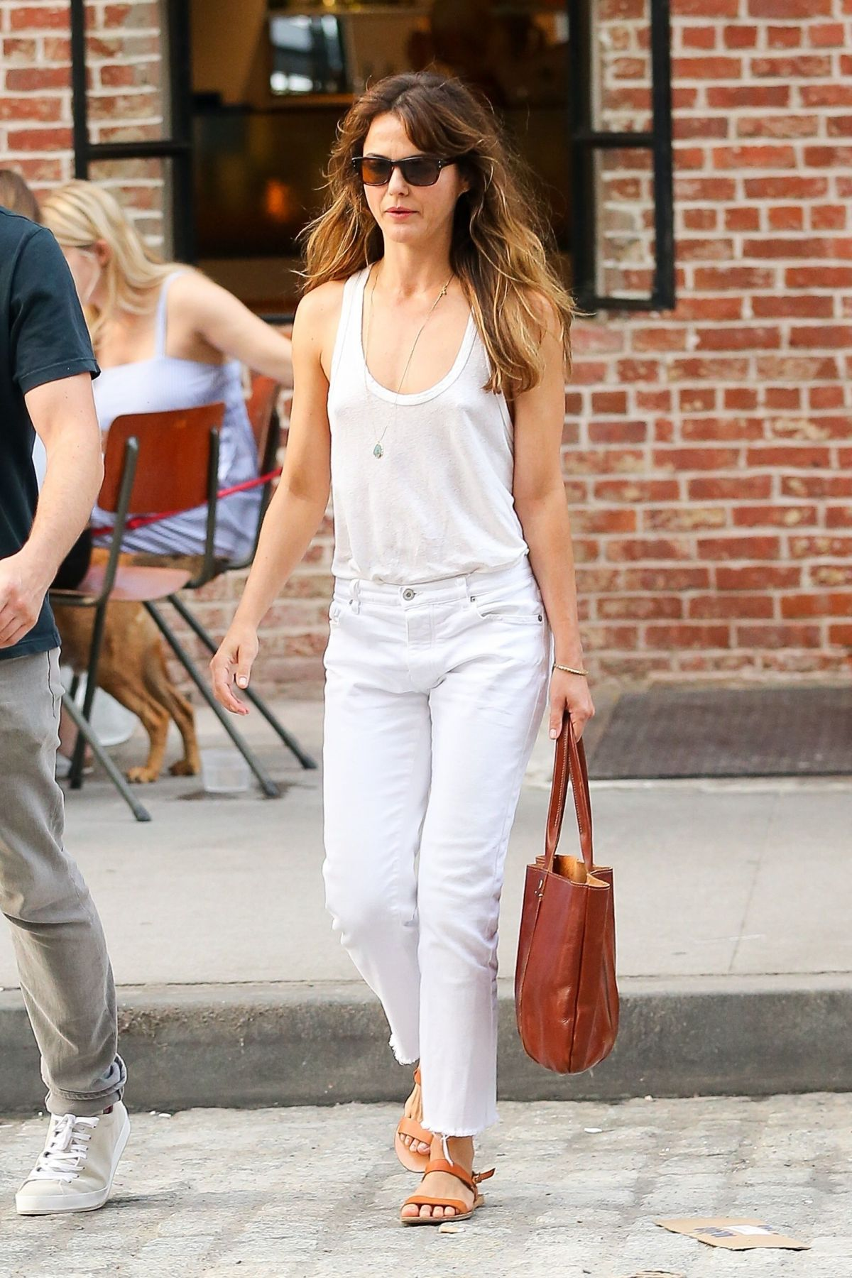 KERI RUSSELL Out and About in New York 09/05/2017