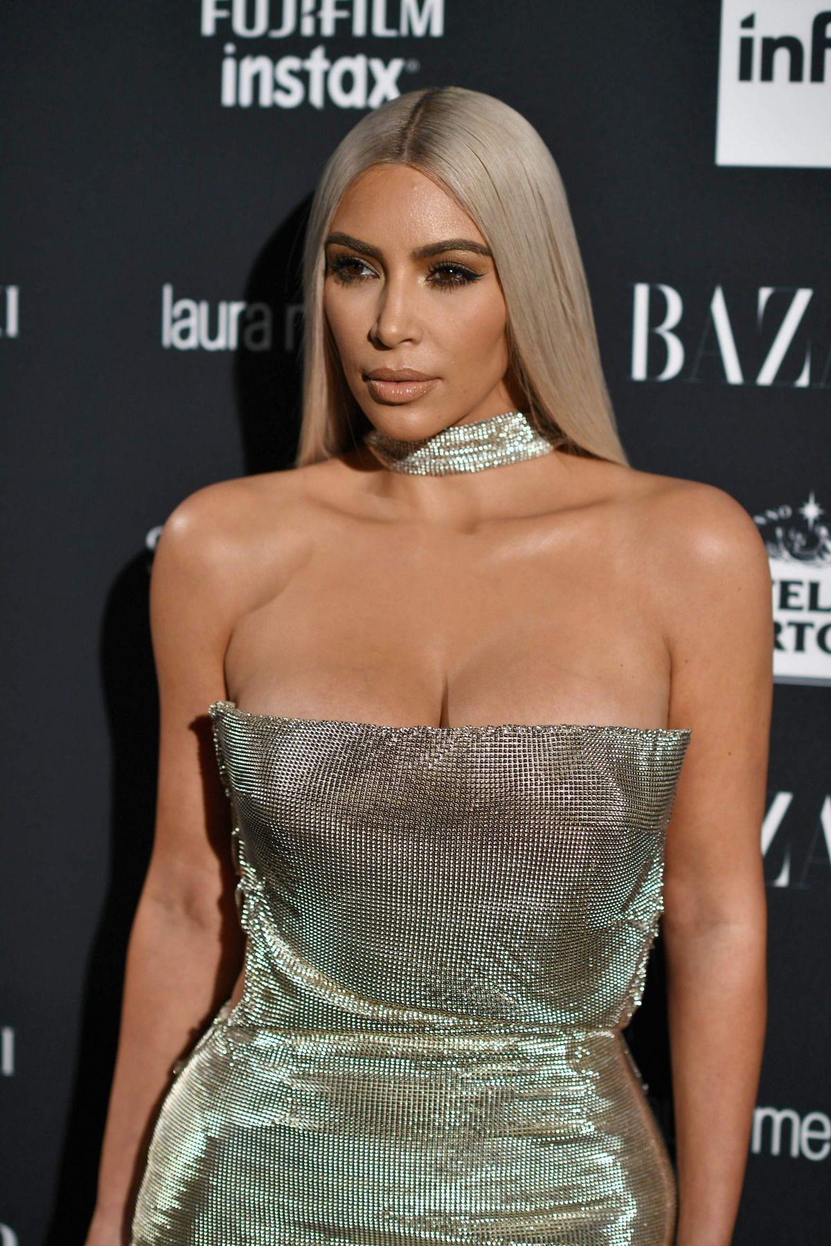 KIM KARDASHIAN at Harper's Bazaar Icons Party in New York ... Kim Kardashian